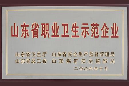 2006年10月山东省职业卫生示范企业
