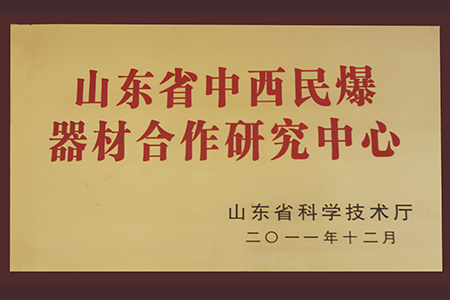 2011年10月山东省中西民爆器材合作研究中心